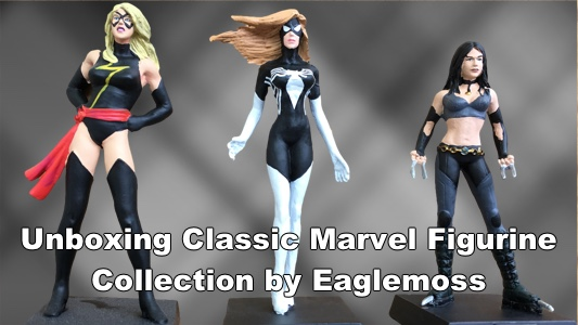 unboxing classic marvel figurine unboxing