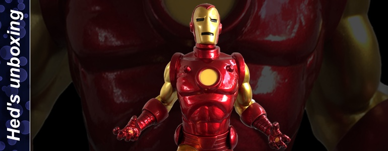 heds unboxing classic iron man stature